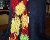 SALE Tropical Punch Crochet Scarf