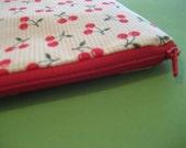 RESERVED Cherry Zipper Bag