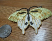 Yellow Butterfly Iron on Patch