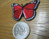Red butterfly iron on patch