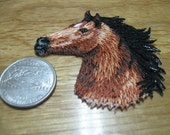 Horse head Iron on patch