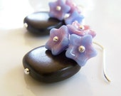 SALE - Flora Earrings - Pink and Blue