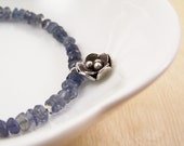 Little Fleur Bracelet - Iolite and Blue Pearls