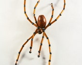 Brown recluse - A beaded spider necklace