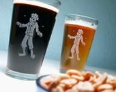 SALE - Zombie Apocalypse Pint Glass
