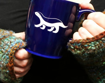Honey Badger Mug - inspirational coffee cup - Choose Your Color