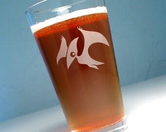 Pterodactyl Dinosaur Pint Glass