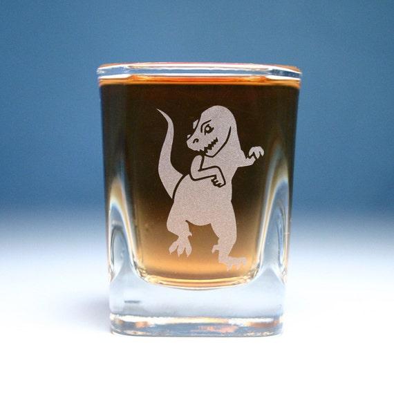 T-Rex Dinosaur Shot Glass