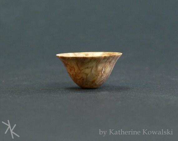 Black Ash Burl 1/12 Scale Miniature Ogee Bowl -- Katherine Kowalski woodturning