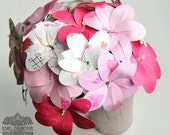 Mixed Pink and White Paper Flower Bride's Bouquet