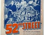 Zasu Pitts Kiss you Goodnight in  52nd Street 1937 Vintage Sheet Music Free Ship