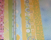 60 Sheets Funky Mod Retro Paper Scrap Pack A