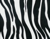 OILCLOTH Fabric - Zebra - Black