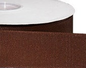 Eco Grosgrain RIBBON - Recycled Bottles - Chocolate - 1 1/2 Inch