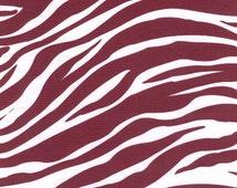 Oilcloth FABRIC - Zebra - Wine