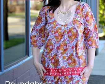 20% Off SALE! Anna Maria Horner PATTERN - Roundabout Dress and Slip