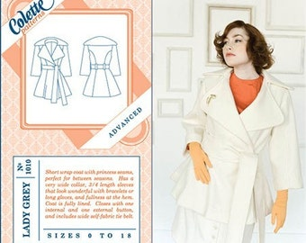 Colette Sewing PATTERN - Lady Grey - Coat