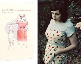 Colette Sewing PATTERN - Macaron - Dress