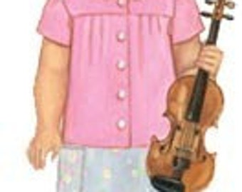 20% Off SALE! Oliver and S PATTERN - Music Class Blouse and Skirt - SZ 6M to 4