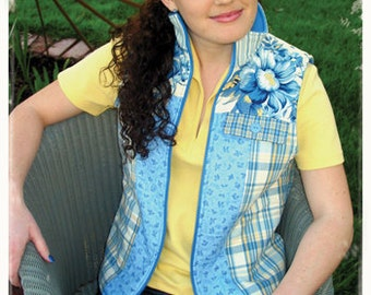 20% Off SALE! Favorite Things PATTERN - The Zip-Up Vest - Sizes 4-22