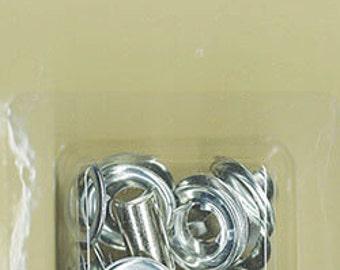 Extra Large EYELET Kit - Silver Nickel - 2 Tools