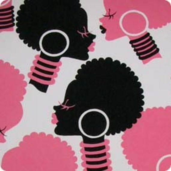 Alexander Henry Fabric African Queen Pink And Black