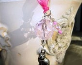 Rearview Mirror Jewelry Charm Car Feng Shui Kitty Cat Pink