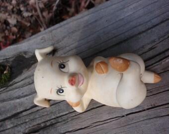 SALE Vintage 1950s CHUBBY Piglet Pottery Gift Flirty Figural ZAFTIG epsteam