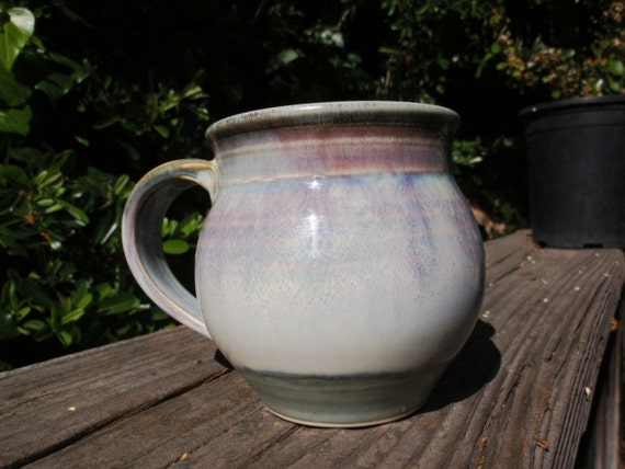 Super Sale Vintage 1970s Chunky Coffee Mug Purples Blues Excellent Cond Gift epsteam