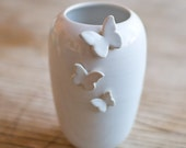 Butterfly Vase-White