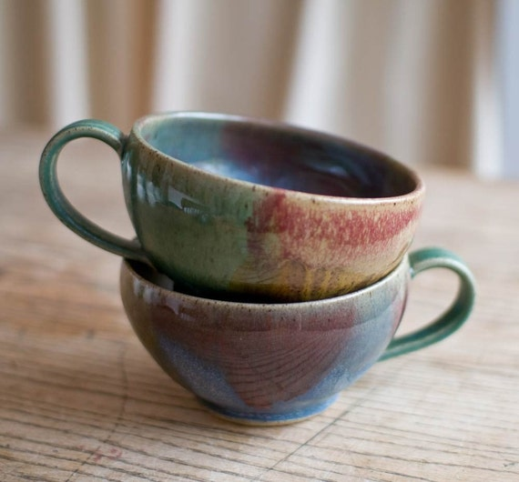 Set of two soup mugs IN STOCK