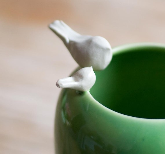 Mama and Baby Birdie Vase- IN STOCK