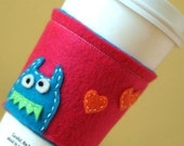 SALE CUSTOM Eco Friendly and Reusable Monsterlicious Monster Coffee Cuff-Design Your Own
