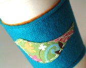 Little Bird Coffee Cuff-Songbird in Blue