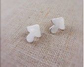 Mushroom Earrings - Silver - Kawaii Style - Gift for Teen