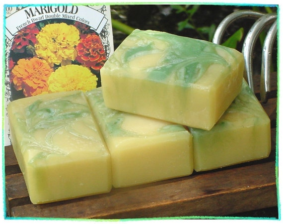 Marigold Mint Handmade Soap -- 2.50 Bargain Price