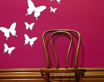Butterfly Wall Graphics - Small Set