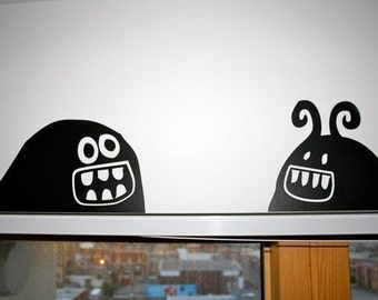 Monster Parade Wall Decal - Set of 3 monster wall decals