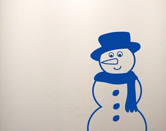 Snowman Wall Decals - Set of 2