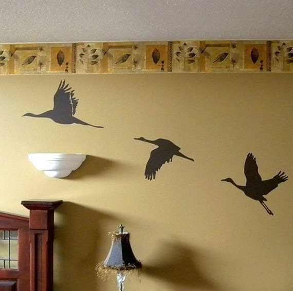 Cranes Take Flight Wall Decals - wd1071
