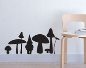 Gnome and mushrooms Vinyl Decal