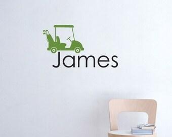 Golf cart and name