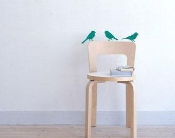 Vinyl Bird, decal My birds small