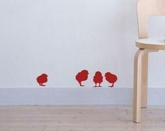 Vinyl Sticker NEW DESIGN Little Red Chick's
