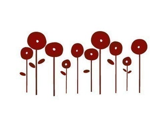 Poppies Decal small
