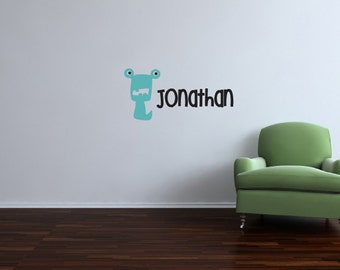 Monster Decal and monogram for children