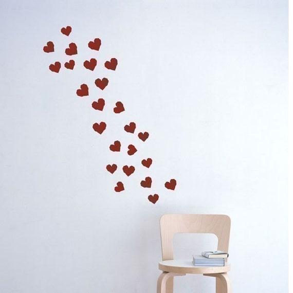 Hearts vinyl wall Decal
