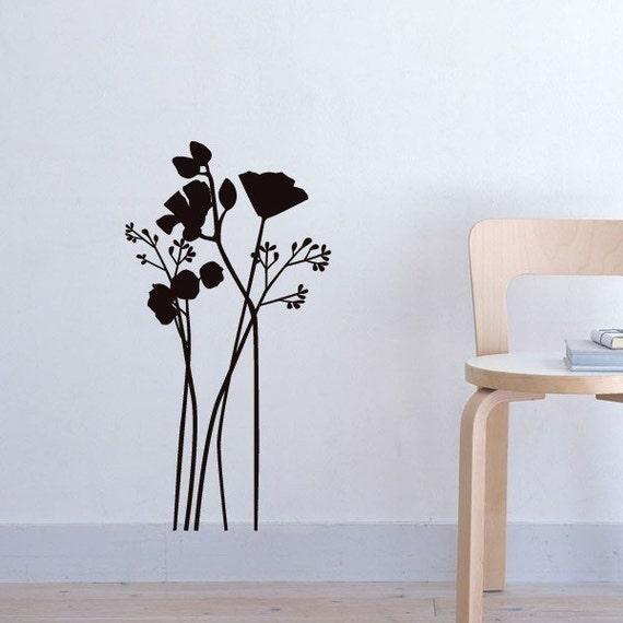 vinyl decal Flowers (tall)