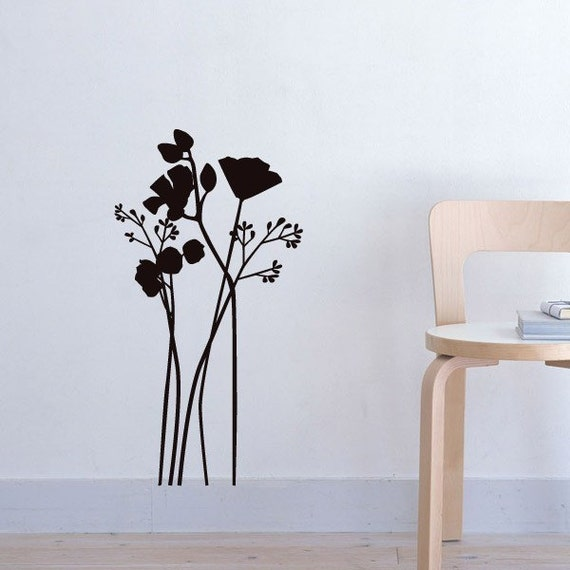 Flowers (tall) vinyl decal