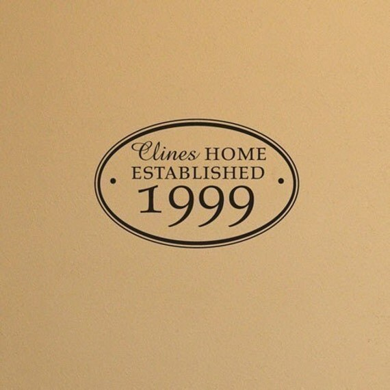 wall vinyl decal Home established